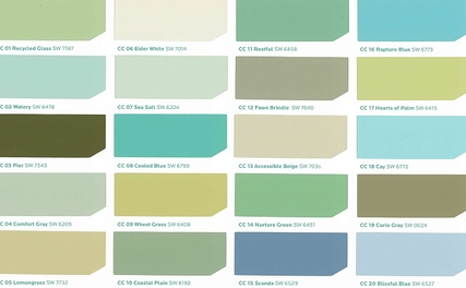 Peaceful Inviting Fresh Interior Paint Colors