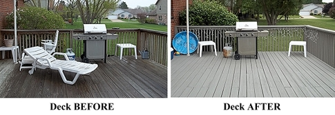 deck cleaning and refinishing